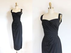 vintage black evening cocktail gown by designer Dorothy O'Hara c. early 1960s! | Trunk of Dresses