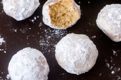 Mini Powdered Sugar Donut Muffins.
