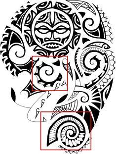 Polynesian Tattoo Meanings - Sea Shells - Design Sample