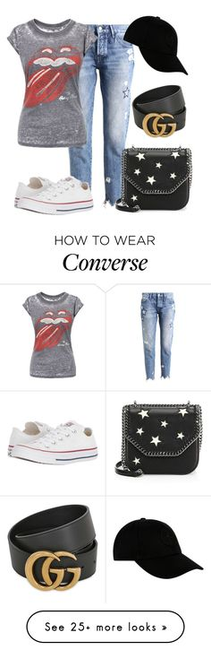 """""""019"""" by m-non on Polyvore featuring Rich & Royal, Converse, STELLA McCARTNEY, Gucci and STONE ISLAND"""