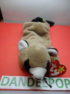 d411dea2dbf TY Beanie Babie 1995 Ringo Raccoon Stuffed animal toy Original w  tags 9