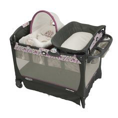 #Graco's Pack 'n Play Playard with Cuddle Cove Elite Rocking Seat in Alexis has a premium, removable rocker with cozy fabrics that are soft on your newborn's skin, gentle vibration to calm and soothe baby and carrying handles that allow you to move your little one from room to room. #BRUHappyTravels