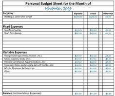 Printable Monthly Budget Planner from gocookingmoms.com | Ebooks ...