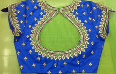 Pattu blouse with zarkans work 91 9866583602 whatsapp no 7702919644
