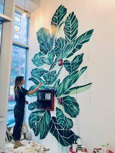 Wall Art Designs, Paint Designs, Wall Design, Wall Painting Decor, Mural Wall Art, Wall Paintings, Balkon Design, Floor Murals, Wall Drawing