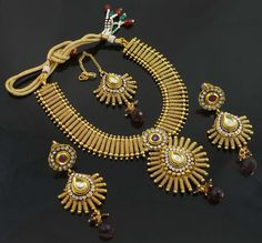 Women Necklace Set Traditional Indian #Jewelry.