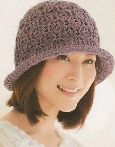Crochet purple striped hat Pattern crocheted hat with brims Patterns hats Striped hat pattern Easy crochet hat pattern for Crochet hat