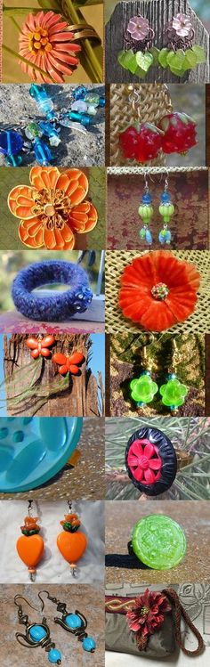 For Frances: Orange and Green, Blue and Red by Claude Freaner on Etsy--Pinned+with+TreasuryPin.com