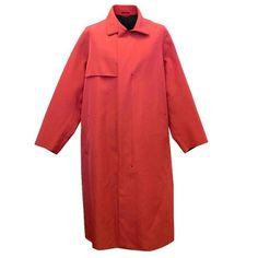 Lanvin Men's Red Trench Overcoat | 1stdibs.com