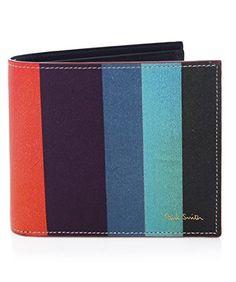 Paul Smith Men's Leather Artist Stripe Print Billfold Wallet In 96 Men's Leather, Leather Wallet, Men Accesories, Accessories, Men's Wallets, Billfold Wallet, Mans World, Paul Smith, Stripe Print