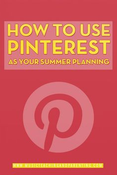 How to use Pinterest in a smart way during the summer and organize your whole teaching year! I loved these teaching ideas.