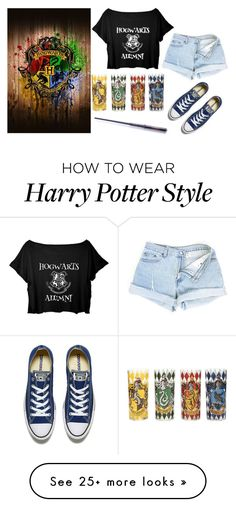 """Hogwarts Alumni"" by redcat20 on Polyvore featuring Converse"