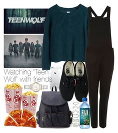 """""""Watching 'Teen Wolf' with friends"""" by wkus ❤ liked on Polyvore featuring Forever 21, MTWTFSS Weekday, Boutique, Vans and Burberry"""