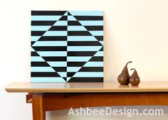 AshbeeDesign.com tutorial on optical art painting using painters tape