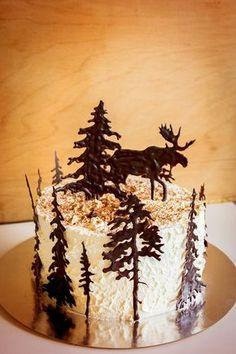 Tårta cake schwarzwald choklad chocolate älg moose födelsedag birthday ⭐sockerlinn.se⭐ Cupcakes, Cupcake Cakes, Moose Cake, Fruit Birthday Cake, Chocolate Moose, Woodland Cake, New Year's Cake, Mini Tortillas, Birthday Cake Decorating