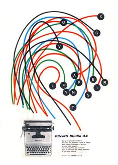 Olivetti Studio 44 Advertising by ninonbooks, via Flickr