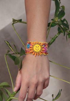 Sunny cheerful bracelet Colorful bracelet with by NevelynkaNasha, $20.00