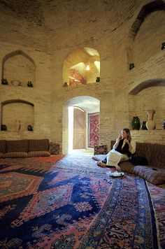 Caravanserai Zein-o-din - Yazd, Iran. Alcoves for Days