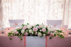 Sweet floral arrangement for the bridal table.