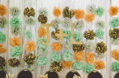 naranja verde azulado decoración