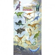 Het stickervel Dinosaurus bevat 15 griezelig leuke dino's en op de achterkant een kleine kleurplaat. Dit stickervel Dinosaurus is een feestelijke traktatie.