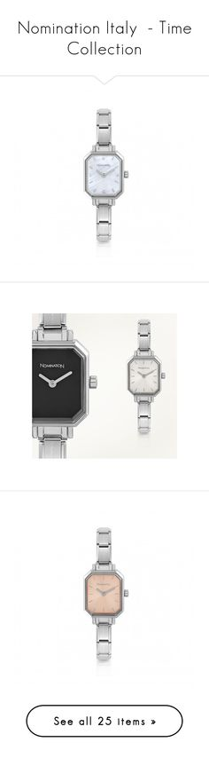 """""""Nomination Italy  - Time Collection"""" by nomination ❤ liked on Polyvore featuring jewelry, watches, stainless steel watches, stainless steel jewellery, stainless steel jewelry and stainless steel wrist watch"""