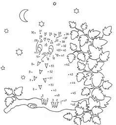 Dibujo de unir puntos de búho: dibujo para colorear e imprimir