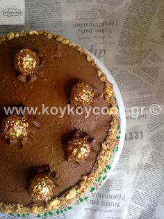 ΤΟΥΡΤΑ ΦΕΡΕΡΟ ΡΟΣΕ (Ferrero Rocher) – Koykoycook The Kitchen Food Network, Ferrero Rocher, Food Network Recipes, Recipies, Muffin, Cookies, Breakfast, Cake, Tips