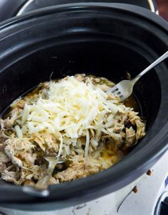 Slow cooker Philly Cheesesteak Chicken