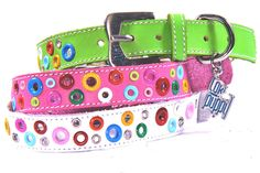 Loki  Cool Leather Dog Collar by thecoolpuppy on Etsy, $24.99  Nice present 4 my dog!