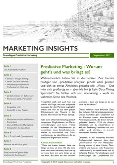 Predictive Marketing Whitepaper Seite 1