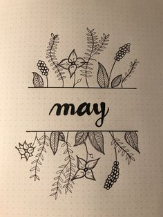 #bujo #bulletjournal #may #monthlyspread
