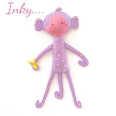 Handmade toy - felt toy - felt monkey - gift - toy - plushie - felt plushie by EverSewNice on Etsy https://www.etsy.com/listing/292074451/handmade-toy-felt-toy-felt-monkey-gift