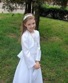 Calu Art: Opaska Girls Dresses, Flower Girl Dresses, Crocheting, Jewelery, Wedding Dresses, Fashion, Dresses Of Girls, Crochet, Jewlery