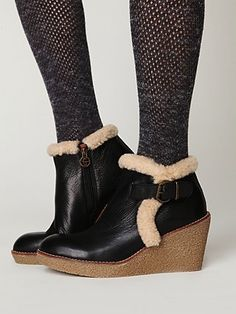 Free People Tumbled Wedge Ankle Boot