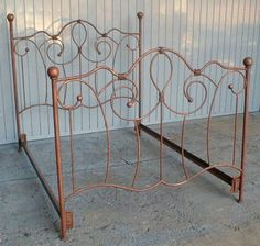 Our rustic forged iron bedroom furniture is pefect for a rustic cabin, Southwest or Sante Fe style estate. This hand-forged iron bed comes complete with headboard, footboard and side rails. Wood Bedroom Furniture, Home Decor Furniture, Bedroom Decor, Master Bedroom, Bedroom Ideas, Rustic Wood, Rustic Decor, Wrought Iron Beds, Brass Bed