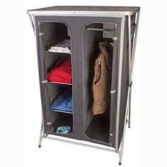 Kampa Maddie Wardrobe/Cupboard - Rear mesh protected ventilation Four internal shelves aluminium edged for strength