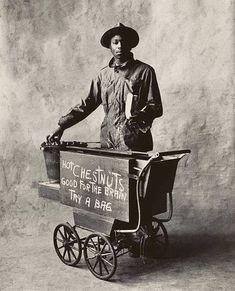 Chestnuts seller, by Irving Penn