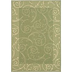 Shop for Safavieh Indoor/ Outdoor Oasis Olive/ Natural Rug (8' x 11'). Get free shipping at Overstock.com - Your Online Home Decor Outlet Store! Get 5% in rewards with Club O!
