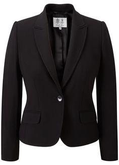 Austin Reed black crepe jacket for wearing over dresses