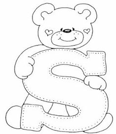 S Coloring Letters, Coloring Books, Coloring Pages, Colouring, Embroidery Alphabet, Hand Embroidery, Machine Embroidery, Felt Patterns, Applique Patterns