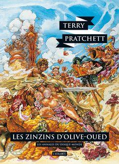 Nouvelle édition ! Les Zinzins d'Olive-Oued de Terry Pratchett, Les Annales du Disque-monde (livre 10, octobre 2015) ©Josh Kirby / Leraf