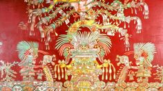 Pintura Mural Tlalocan Palacio Tepantitla Teotihuacan
