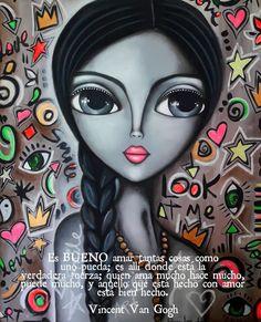 #love 💟 feliz sábado!☀️Lee bien esto, amigo 12💋 Mixed Media Faces, Pop Art Girl, Indian Folk Art, Beautiful Drawings, Cute Images, Mosaic Art, Face Art, Disney Art, Character Art