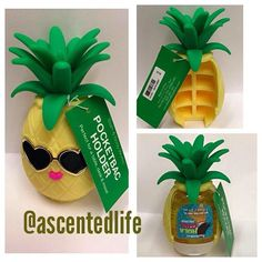 Look at this adorable bath and body works pineapple hand sanitizer holder!!!
