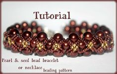 free seed bead patterns, tila beads, necklace, christmas patterns ... Pattern has been pulled but easy enough to work out