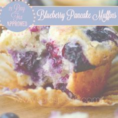 DELICIOUS and CLEAN 21 Day Fix breakfast option -- Blueberry Pancake muffins!! My toddler LOVES these and no guilt as a mommy! haha Follow me on FB for more healthy tips:https://www.facebook.com/spisaksara