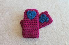 Kids Fingerless Gloves by RiverMountainCrochet on Etsy