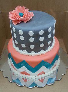 chevron cake   Flickr - Photo Sharing!