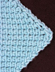Symmetrical Tunisian Diamond by Vashti Braha. Another new Tunisian method to learn: corner to corner!